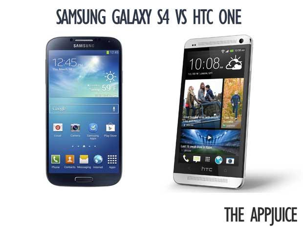 HTC One VS Samsung Galaxy S4