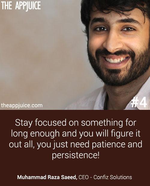 Muhammad Raza Saeed - Startuo Quotes