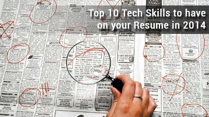 top 10 tech skills to have on your resume in 2014