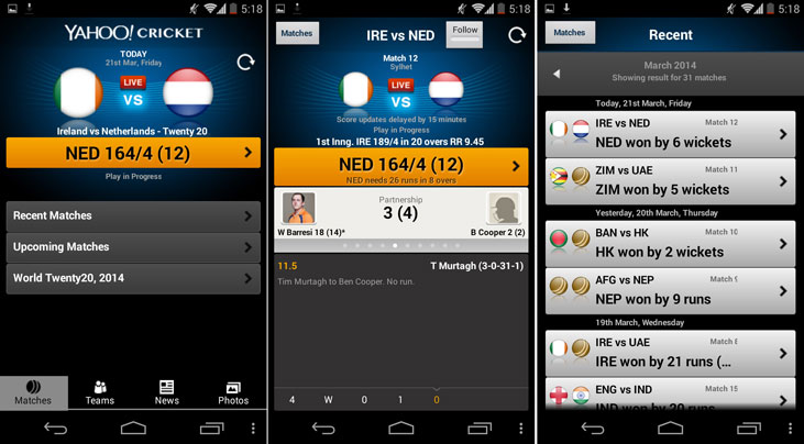 Top 5 Free Android Apps for Live Cricket Scores & Commentary