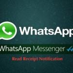 Whatsapp read receipt notification