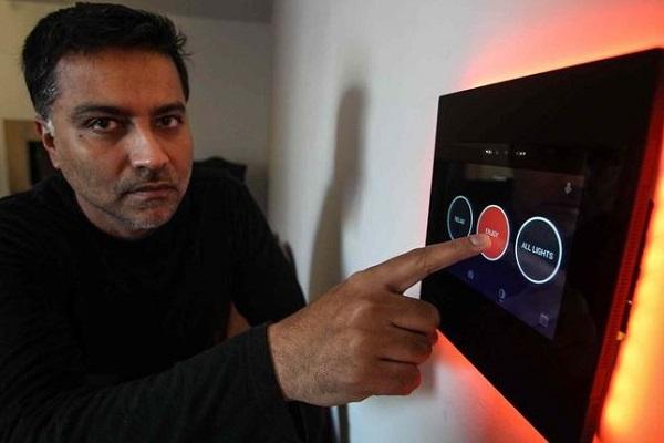 Salman With Umbrela Smart Home Technology