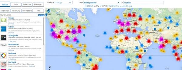 StartupBlink Maping