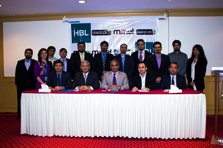 HBL working with Daraz.pk and Monet