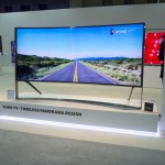 Samsung UHDTV with curved display