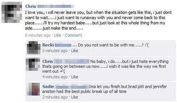 Facebook Break Up Friends