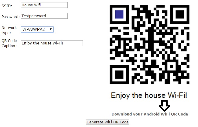 How to get connected with Wifi using QR code 3