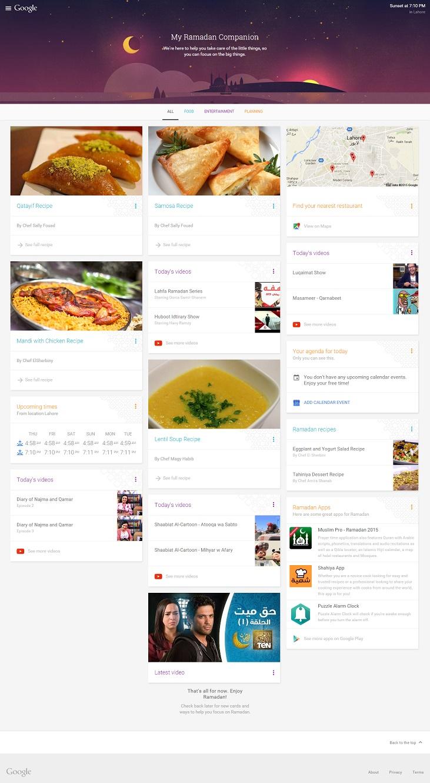 Ramadan With Google