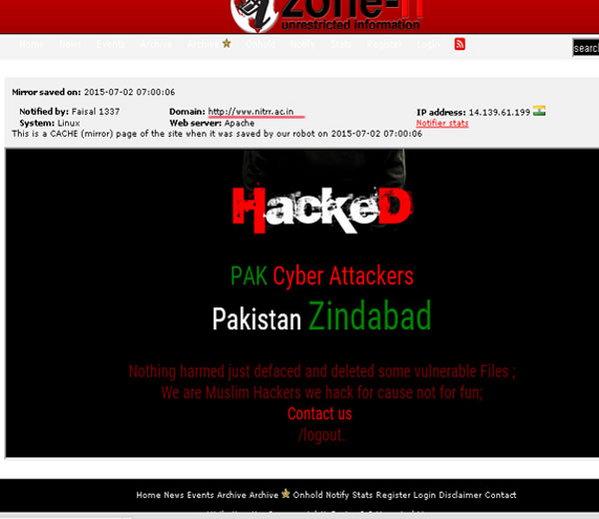 Pakistani Hackers Hacked Indian Website 3