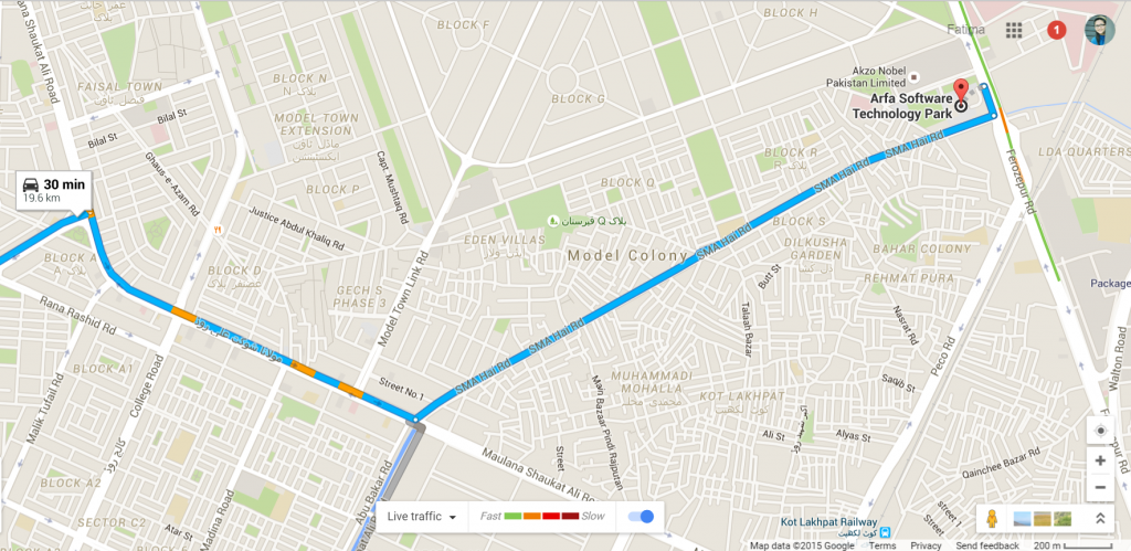 Googles live traffic feed is now available in pakistan sciox Image collections