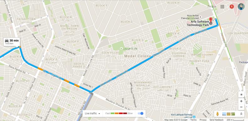 Google Live Traffic