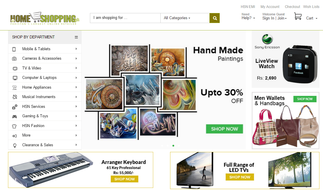 Homeshopping Pk Has Introduced A Revamped Version Of Their Online Portal The New Layout Comes With A Minimalistic Look Much Less Clutter And Unlike The