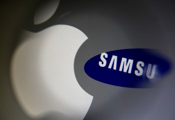 A Samsung logo and a logo of Apple are seen in this illustration photo in Sarajevo