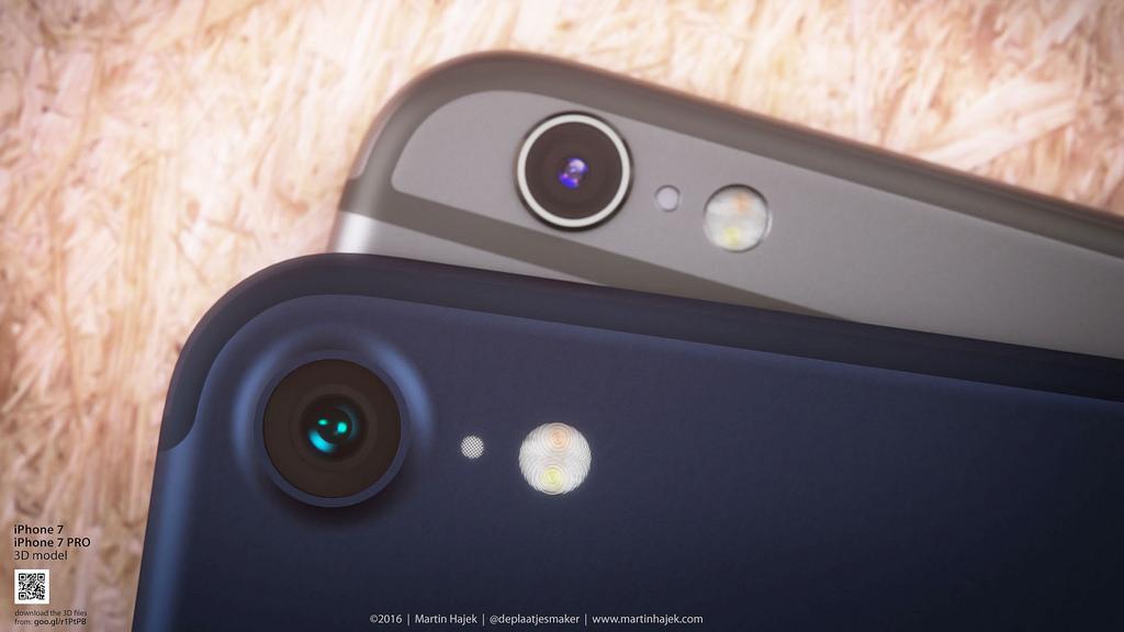 iPhone 7 concept in deep/dark blue.