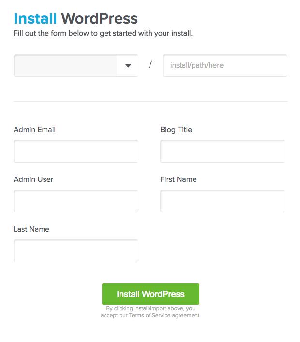 Install WordPress Credentials