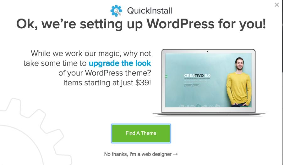 Wordpress Installation In Progress