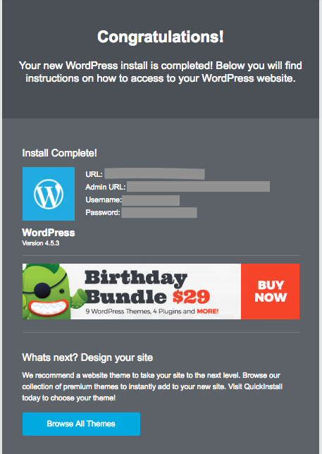 WordPress Email
