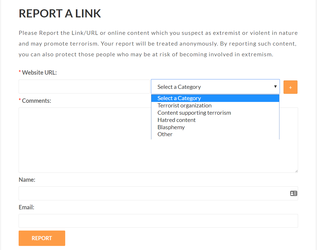 Report a link
