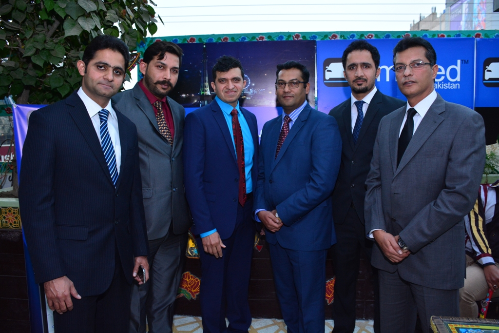 Limofied CEO Kashif, CTO Zahid along with Limofied's team at the ceremony in Lahore