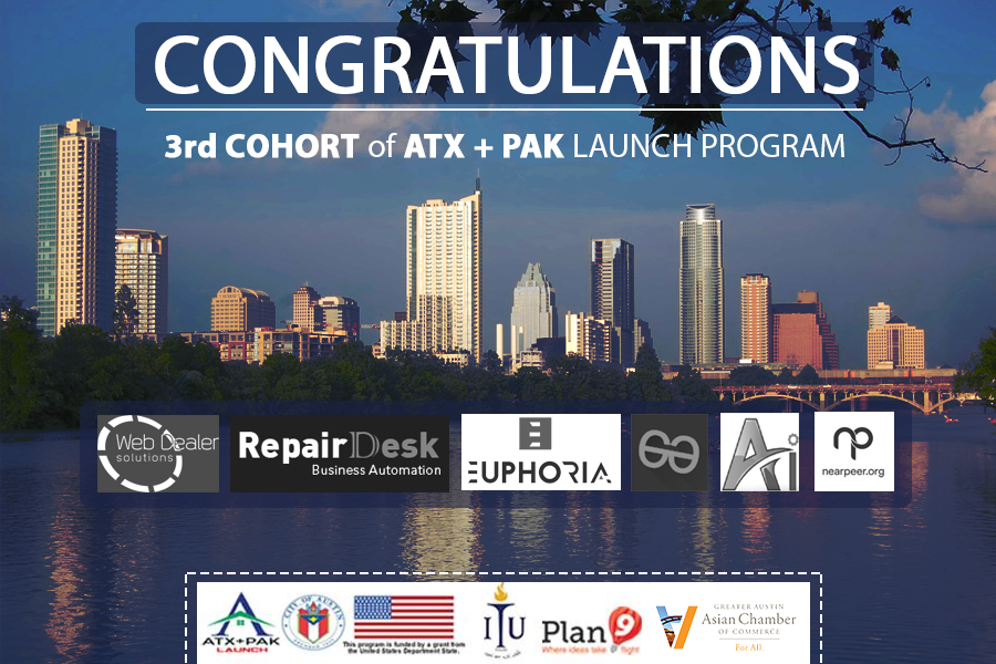 Startups selected for ATX+PAK launch program
