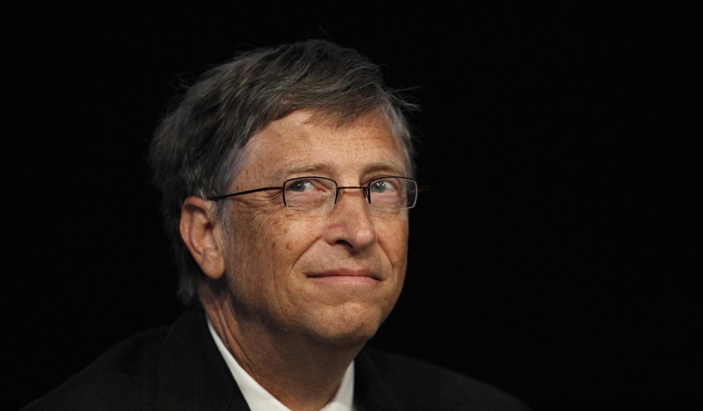 """Microsoft founder and philanthropist Bill Gates speaks at the """"Uniting to Combat Neglected Tropical Diseases"""" conference at the Royal College of Physicians in London"""