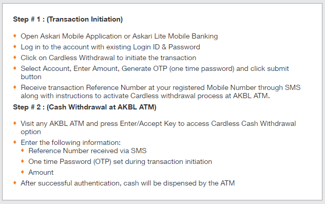 Askari Bank launched Cardless Cash Withdrawal, no need of