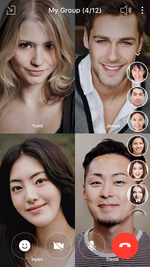 Line app now supports group video call with up to 200 people