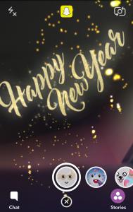 snapchat new year
