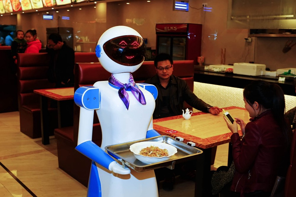 %name Food industry robots taking orders