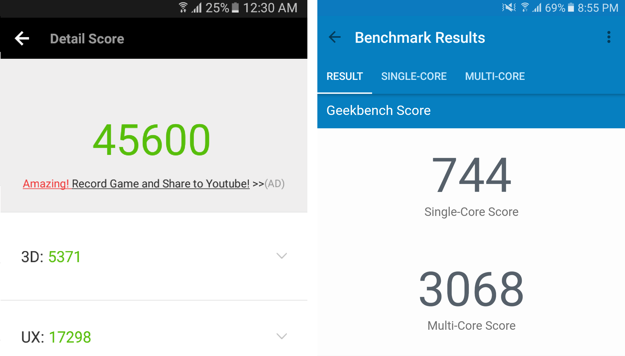 Samsung Galaxy A5 2017 review: Benchmarks