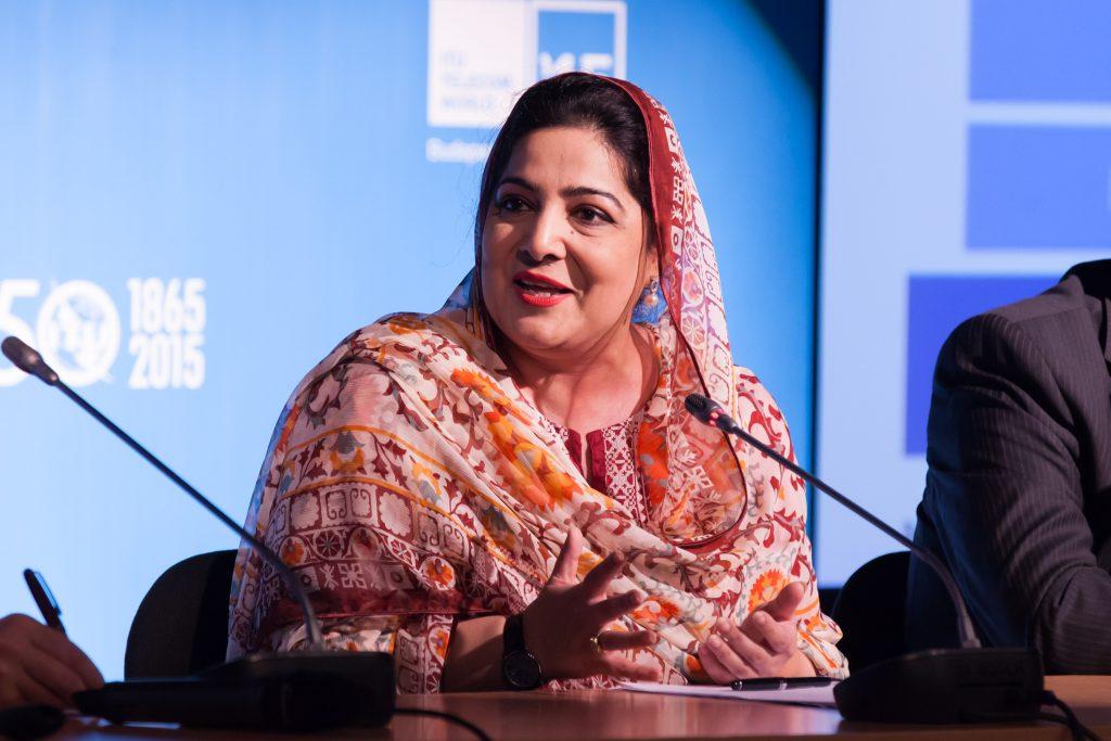 Anusha_Rahman_at_World_Economic_Forum_Session_2015