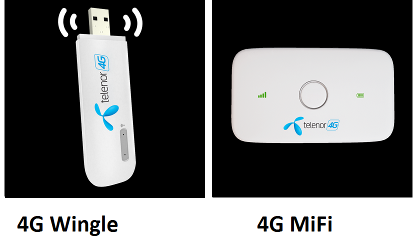 telenor device packages 4g wingle mifi