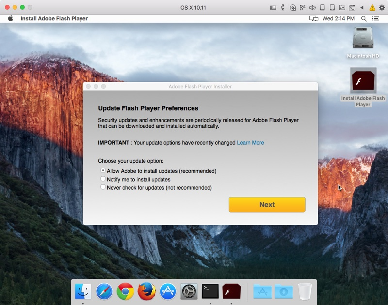 Windows malware ported to Mac, imitates Adobe Flash Player
