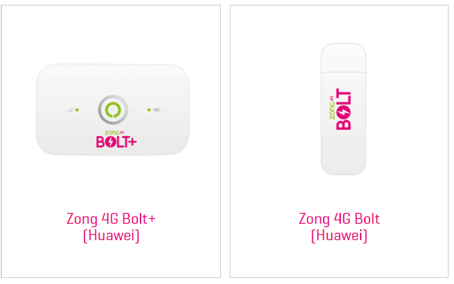 zong device packages 4g bolt