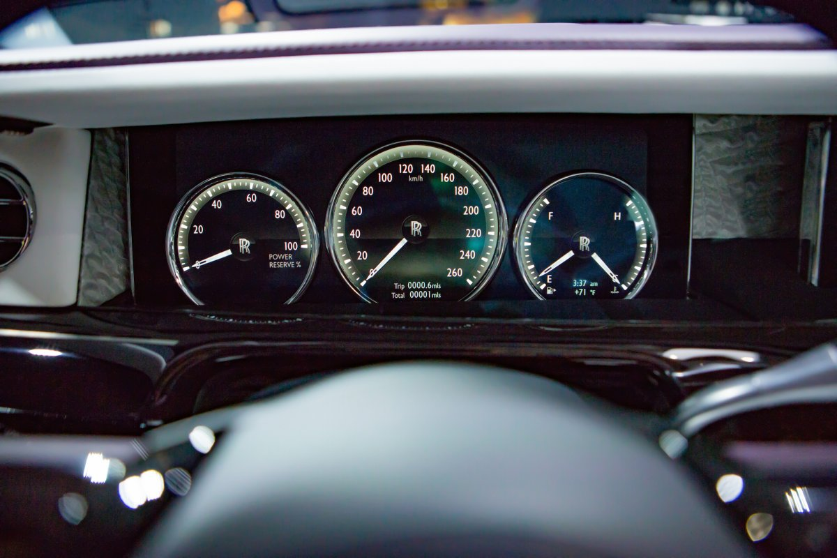 Rolls-Royce Phantom the HUD