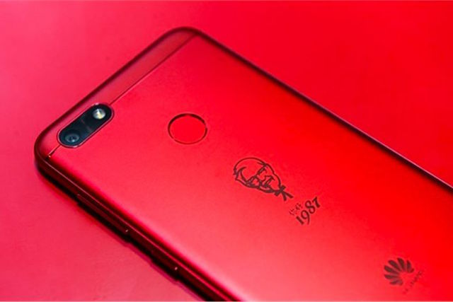 Huawei's Special Edition KFC Smartphone For China Is Finger Lickin' Good
