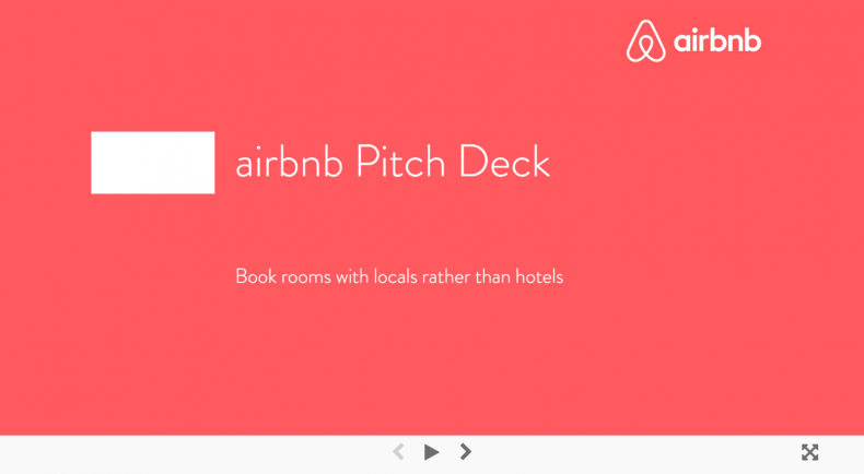 AirBnB Pitch Deck