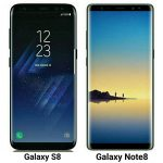 Samsung Galaxy Note8 and S8