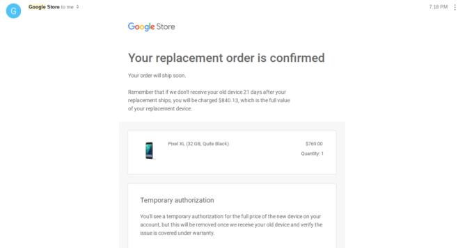 Google Pixel Replacement