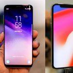 iPhone X vs. S8