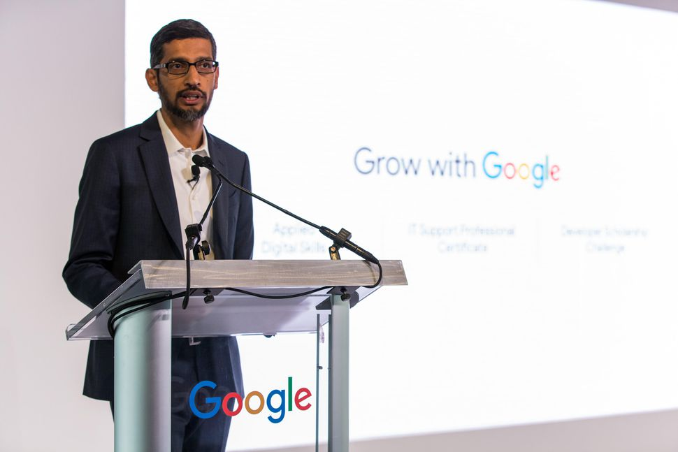 Sundar Pichai has announced that Google will be investing $1 billion to train US workers who are working in technology-based workstations.
