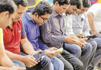 Indians Using Smartphones