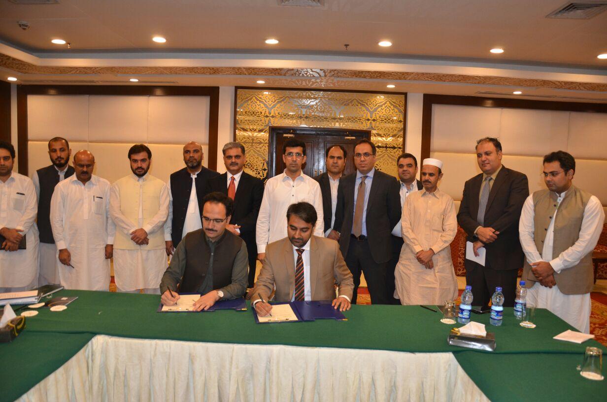 KPK Signing PTCL Wifi