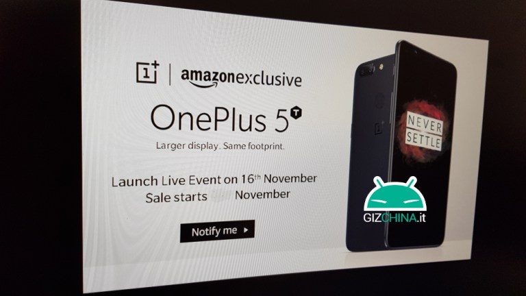 OnePlus 5T To Land November 16 As Amazon Exclusive?