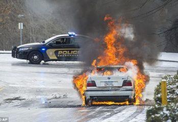 BMW Catching Fire