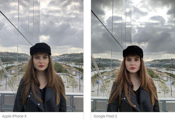 Cameras Pixel 2 iPhone X
