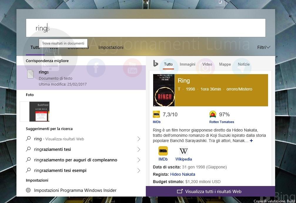 Windows New Search BAr