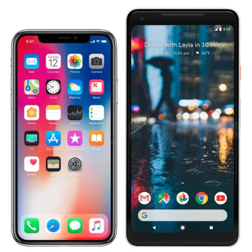 bigger screen pixel 2 iphone x