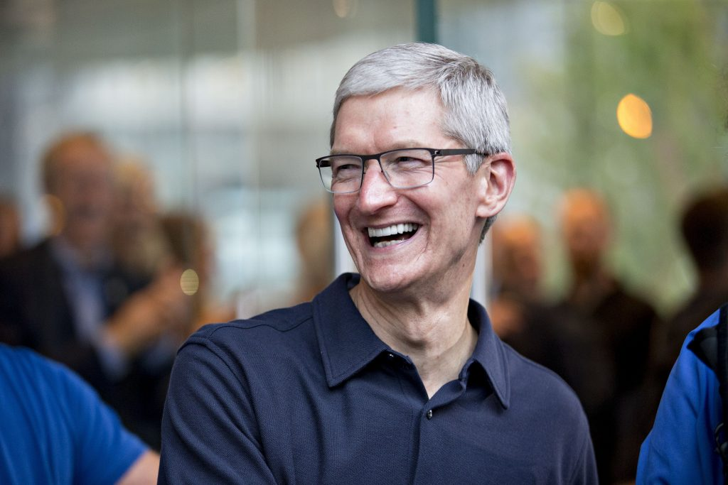 Apple CEO Tim Cook's total compensation package for 2017 is $102…