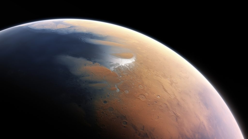Huge ice water reserves on Mars